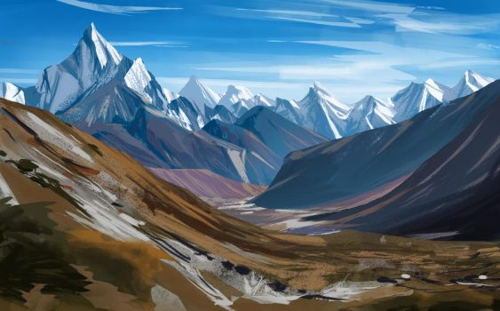 Himalaya Mountains by gabrielrubio