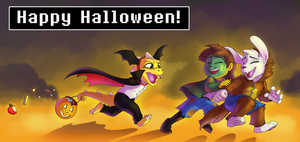 An Undertale Halloween by AbsoluteDream