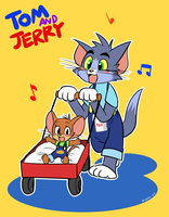 BFF tom and jerry by EZstrongs