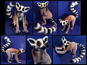 Ring Tailed Lemur Poseable Art Doll by Blazesnbreezes