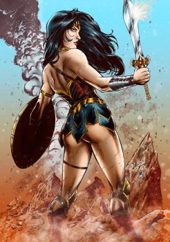 Wonder Woman colors by FantasticMystery