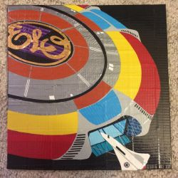 ELO Out of the Blue album cover (duct tape) by TheDucttapeBassist