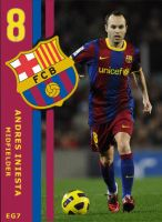 Andres Iniesta FC Barca Card by adchv09