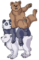 #bearstack by corgiknight