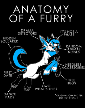Anatomy of a Furry by artwork-tee