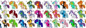 My Little Pony FREE Adoptables Huge Set 3- CLOSED! by Lucid-Adoptables