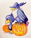halloween Murkow and honchcrow by Helsic