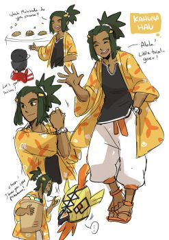 Pokemon sun and moon : Kahuna Hau! by DC9spot