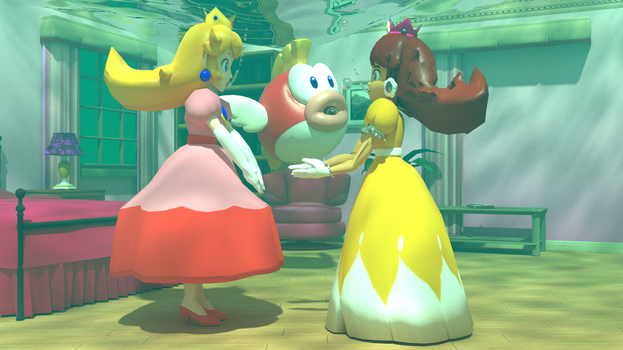 Classic Peach and Classic Daisy underwater 2 by kuby64