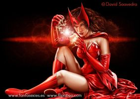 Wanda, the Scarlet Witch by flipation