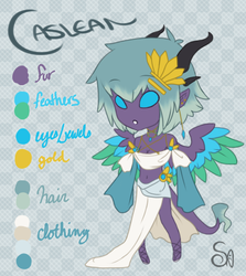 + Caslean Anthro Reference + by Saiyukou