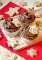 Chocolate Ginger Christmas Cupcakes by claremanson