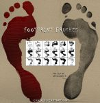 Footprint brushes by chain
