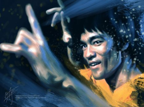 Bruce Lee by AngelaBermudez