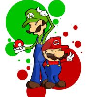 Mario Brothers by superdot