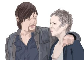 Daryl and Carol (The Walking Dead) by TacosPanda