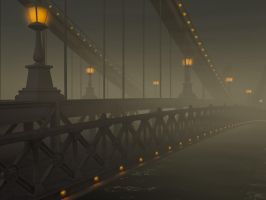 Foggy Bridge by NIKOMEDIA