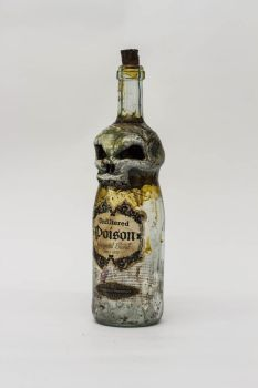 Creepy Skull Bottle by FraterOrion
