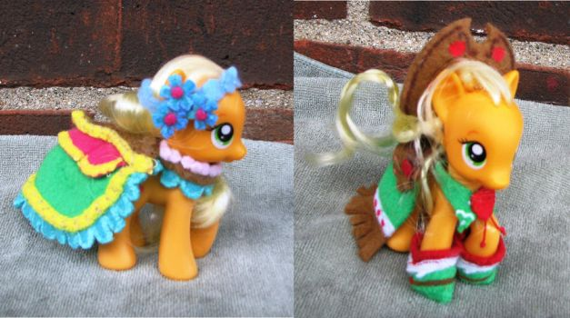 MLP Applejack Custom Dresses: Gala and Wedding by ParadiseSpecial