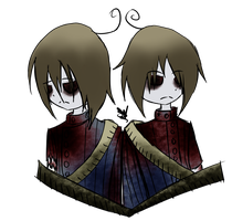 [Haunted Manor ] Roaming Twins Bust by OpalesquePrincess