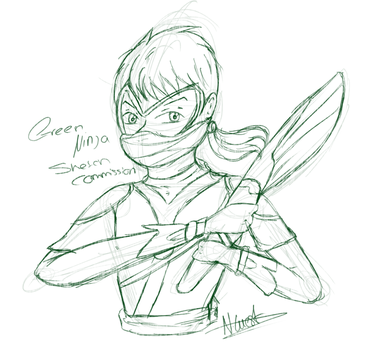 (COMMISSION) Sketch Green Ninja by NatalieGuest
