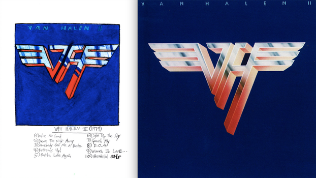 Van Halen II (1979) by Van Halen - Album Drawing by Prime55