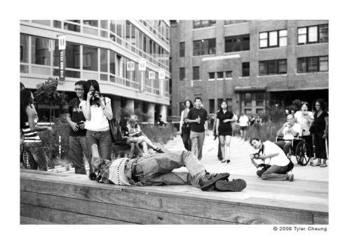taking a nap on the high line by JTF-5128