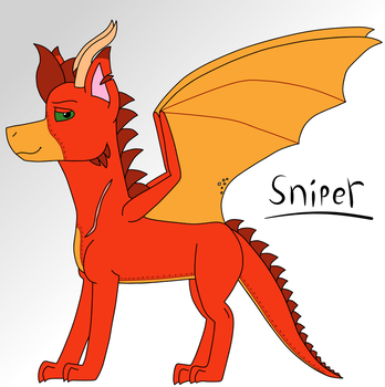 Sniper The Dragon (REDESIGN) by Pinka13