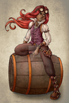Steampunk Guy *colored* by CaptainMetal