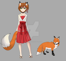 Fox Girl by INTROVERTASTIC