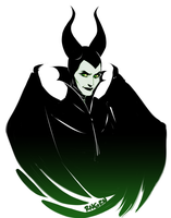 Maleficent sketch by RinGreen