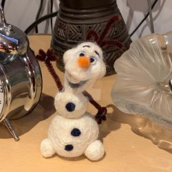 Needlefelted Olaf by SoVeryUnofficial