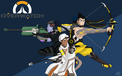 Overwatch Snipers by Abi-Chan14