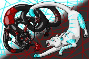 The Battle of Shadow and Light -Color-In- by xXxAbyssQueenxXx