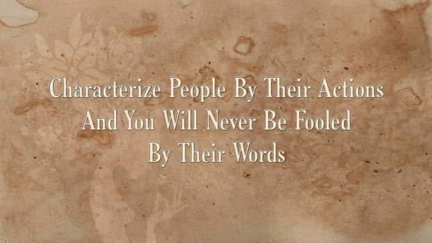 Characterize people by their actions by AbbyShue