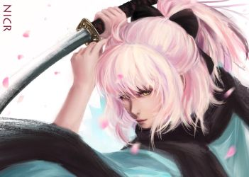 Okita Souji the Sakura Saber by NIcR97