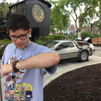Me in front of the DeLorean by hamursh