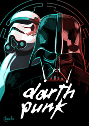 star wars - darth punk by shorelle