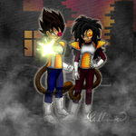 Young Vegeta and Spea (OC): Farewell ... by Cullinaree