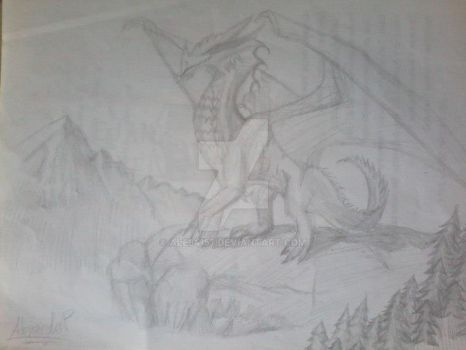 Dragon's Drawing by Ale64157