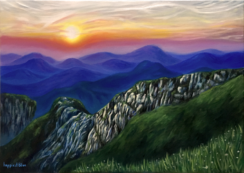 Mountain Painting by happiestBlue