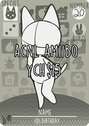YCH Amiibo Card Commissions by SpookierDeer