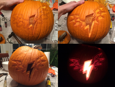 Wonderbolts Logo Pumpkin Carving by Warhorse26