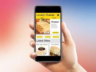 Cheese mobile site by GSquadron