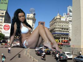 Giantess Kristina in Buenos Aires by Beregous