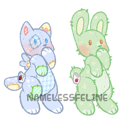 [closed] Dual Wishie Auction by NamelessFeline