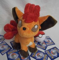 Custom minky Vulpix plush by angelberries