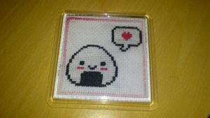 Cross Stitch Onigiri by passionfyre