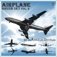 Airplane brush set vol. 2. by 00AngelicDevil00