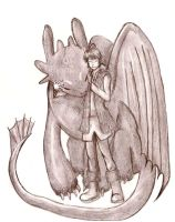 Hiccup and Toothless by Tetra-Zelda